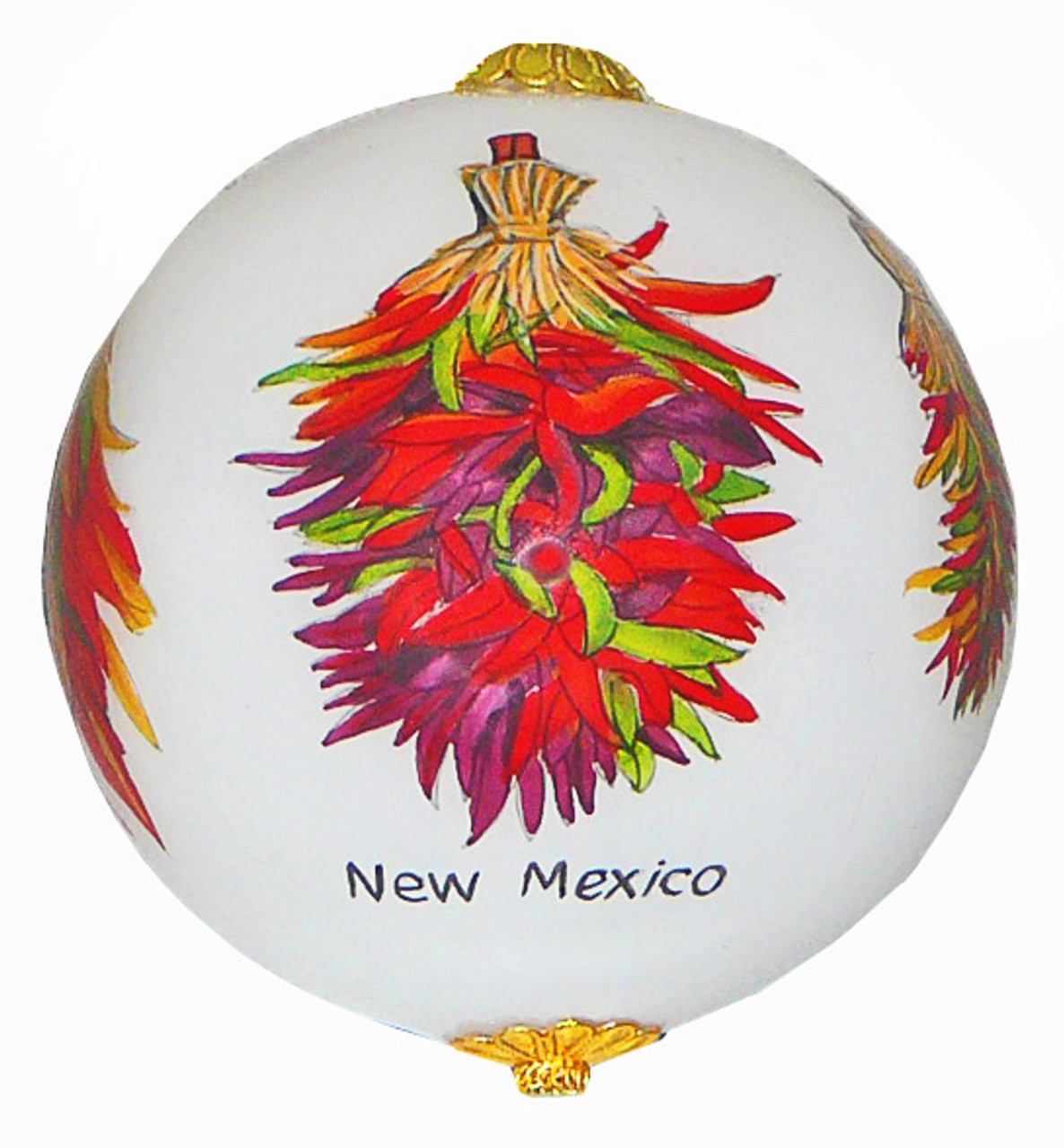 """SW Chilies -  - 3"""" Ornament Set of 2"""