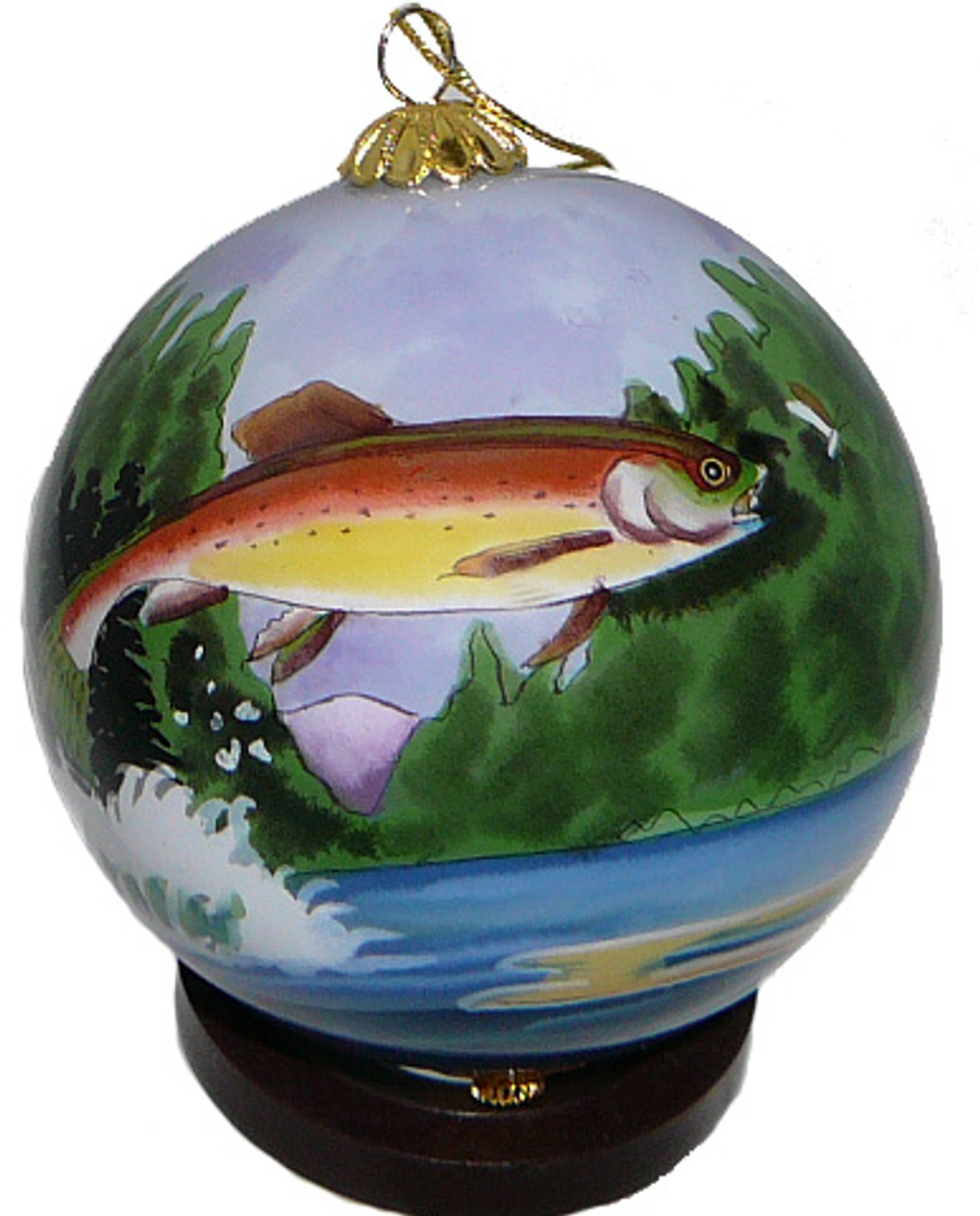"Rainbow Trout - 3"" Ornament Set of 2"