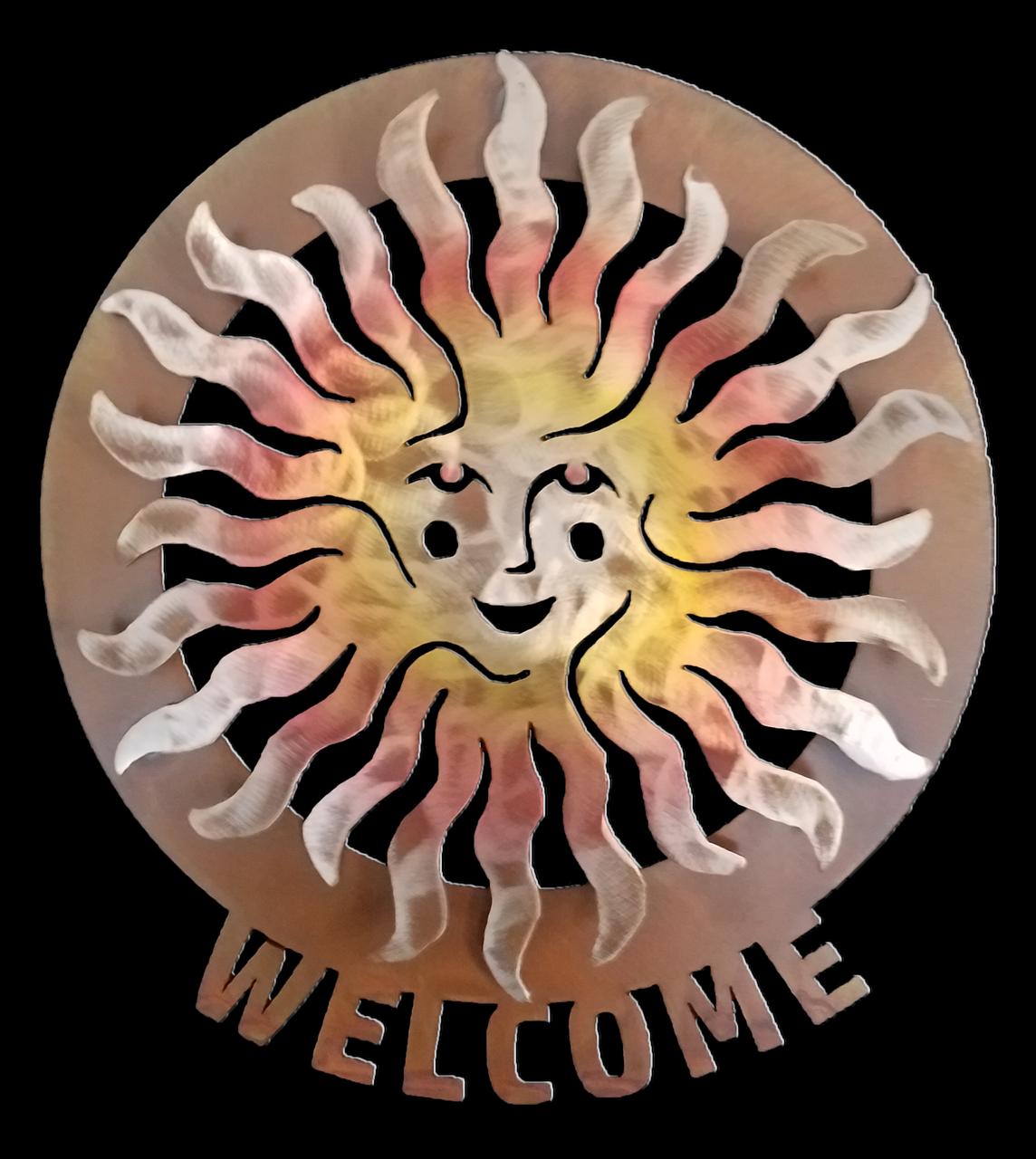 Sprite Sun Face Welcome Medallion