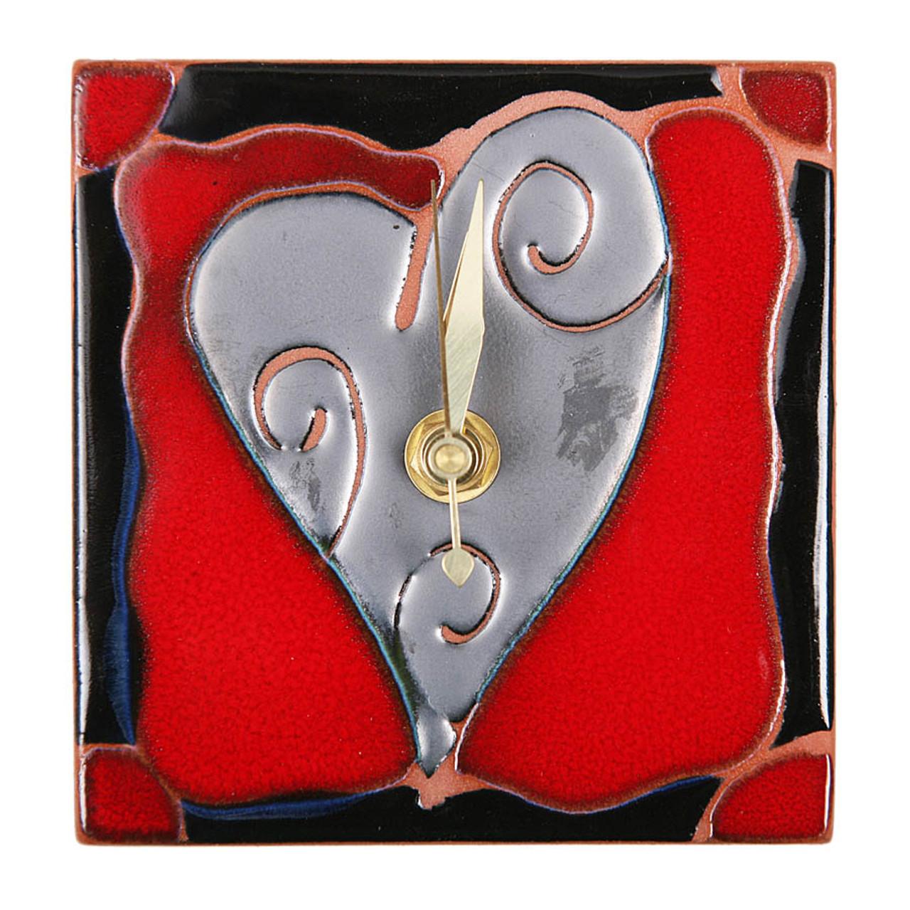 Heart Swirl Desk Clock