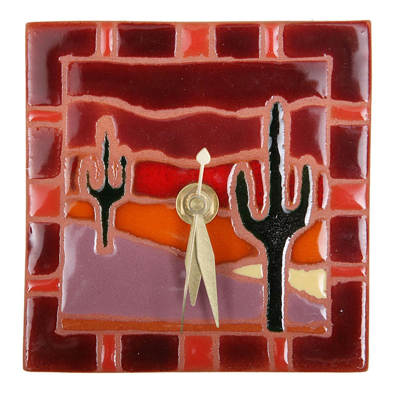 Sunset Cactus Scene