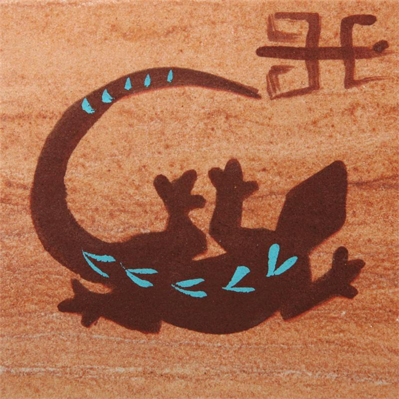 Hand Painted Gecko Coasters - Set of 4