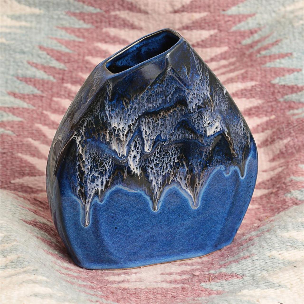Stormy Skies Slant Vase