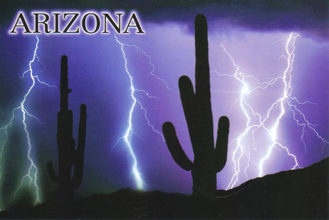 Arizona Monsoon Lightning Postcard - Pack of 100