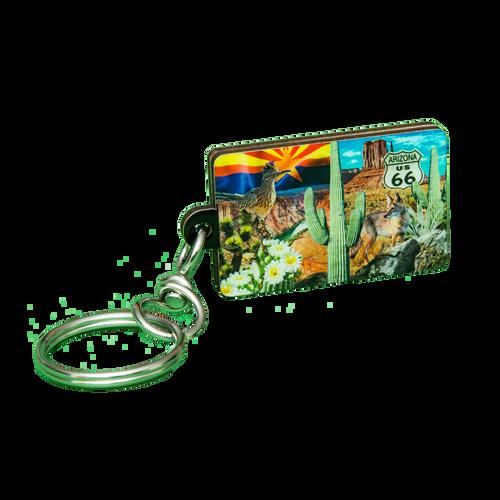 Lucite 3D AZ Collage Keychain