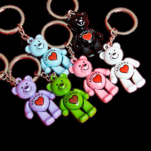 Dancing Bear Heart AZ Keychain