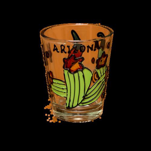 Hand Painted Cactus & Chili Shotglass