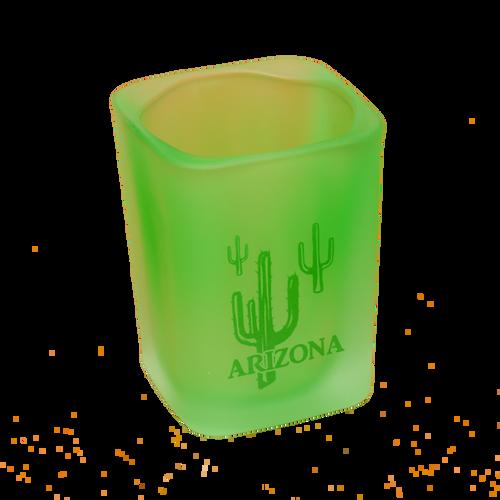 Green Square Shotglass