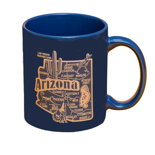 Blue AZ Map Mug