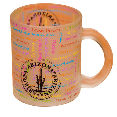 Frosted AZ Passport Stamp Mug