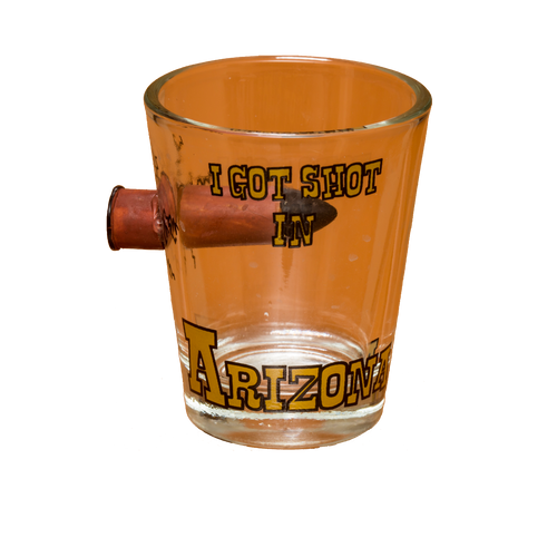 Bullet in Glass AZ Shotglass
