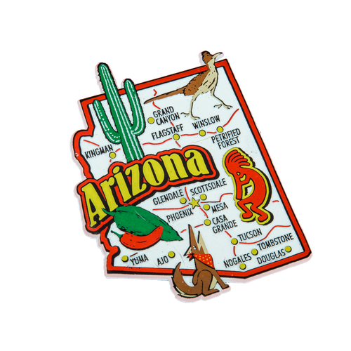 Arizona Jumbo Map Magnet