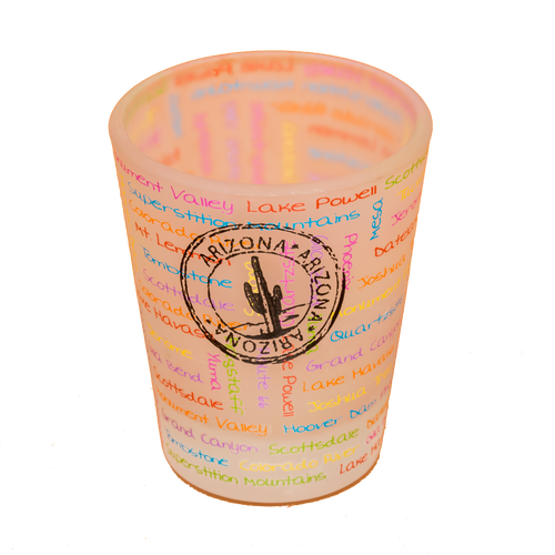 Frosted AZ Passport Stamp Shotglass