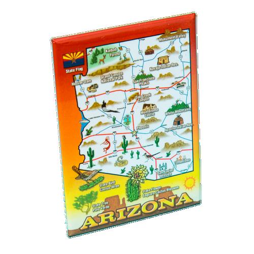 AZ State Map Magnet