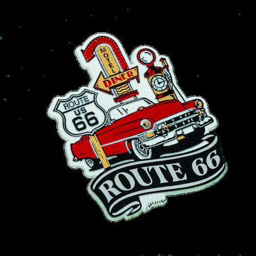 Route 66 Car Shield Magnet