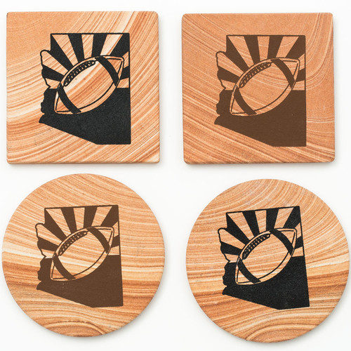 Arizona Football Coasters - Set of 4