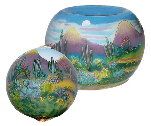 "Desert Scene - 3"" Ornament Set of 2"