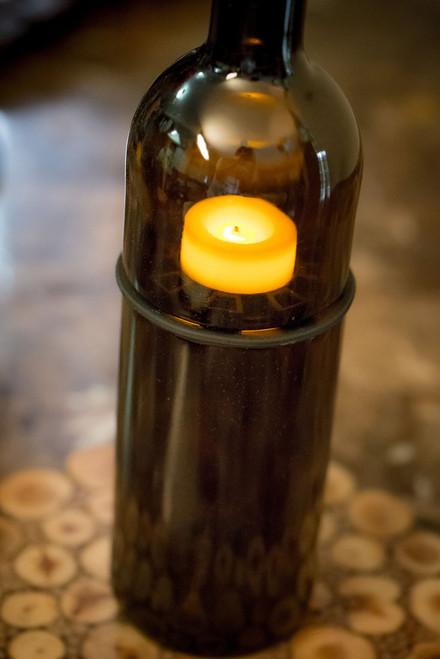 Refresh Glass - Split Bottle Tea Lite