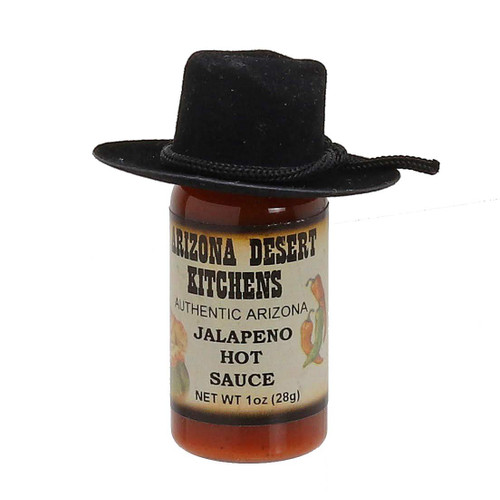 Jalapeno Hot Sauce 1oz - choose with or without cowboy hat