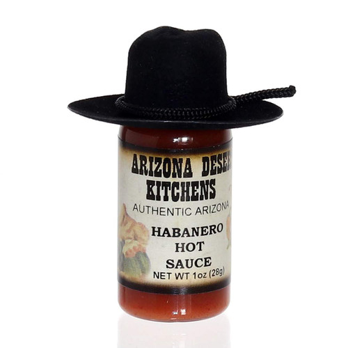 Habanero Hot Sauce 1oz -  choose with or without cowboy hat