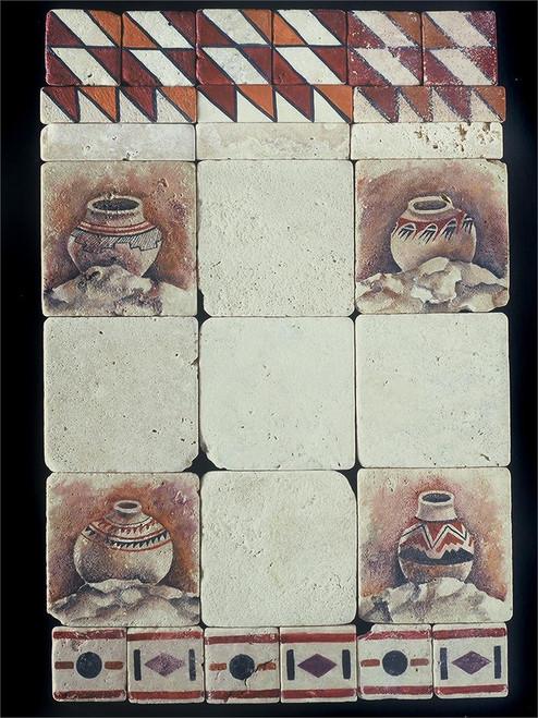 """Navajo Geo #3 Liner 1""""x4"""" Tile"""