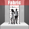 Fabric Step and Repeat Banner with stand 4'x8'