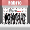 Fabric Step and Repeat Banner with stand 12'x8'