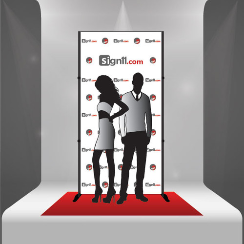 Red Carpet Backdrop 4'x8' + Stand + Red Carpet - Combo 4B