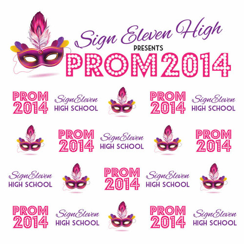Prom Step and Repeat Backdrop 345