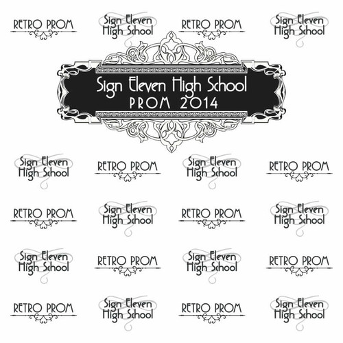 Prom Step and Repeat Backdrop 357