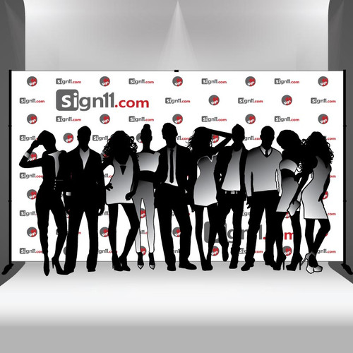 Step and repeat banner 14x8 with stand, Step and Repeat, Step and Repeat Banners, Red Carpet Backdrops, Red Carpet Banners
