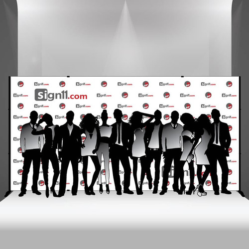 Step and repeat banner 16x8 with stand, Step and Repeat, Step and Repeat Banners, Red Carpet Backdrops, Red Carpet Banners