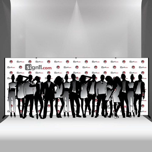 Step and repeat banner 20x8 with stand, Step and Repeat, Step and Repeat Banners, Red Carpet Backdrops, Red Carpet Banners