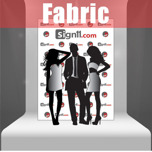 Fabric Step and Repeat Banner Backdrop 6'x8'