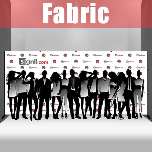Fabric Step and Repeat Banner with stand 18'x8'