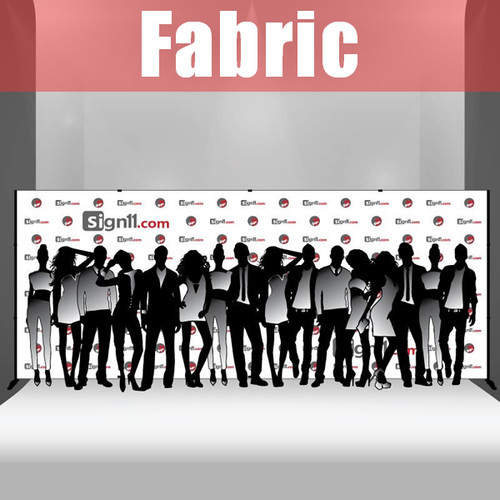 Fabric Step and Repeat Banner with stand 20'x8'