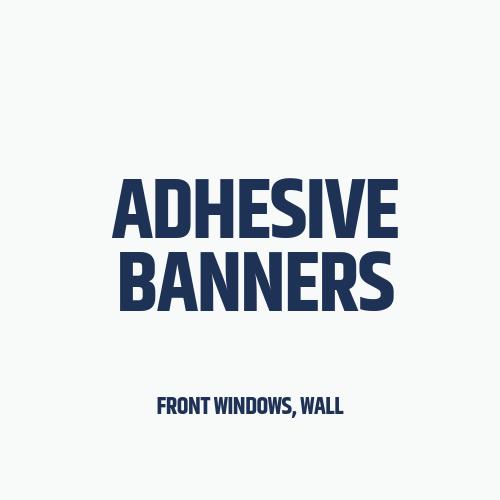 adhesive banners