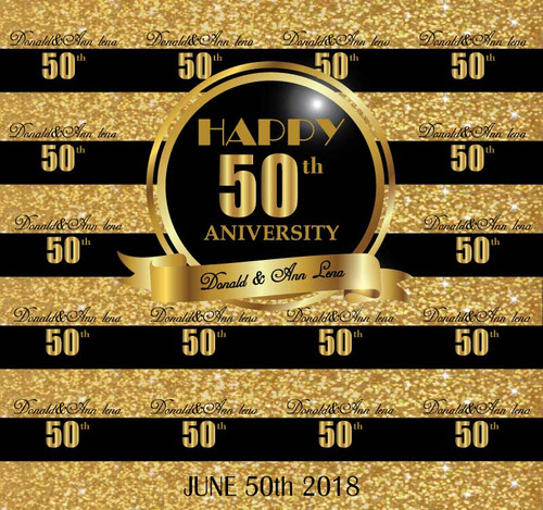 50th Anniversary Backdrop 7004 (7004)