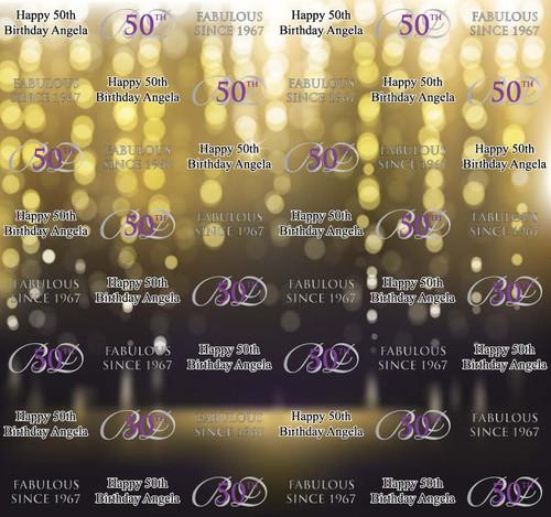 50th Birthday Backdrop 7010