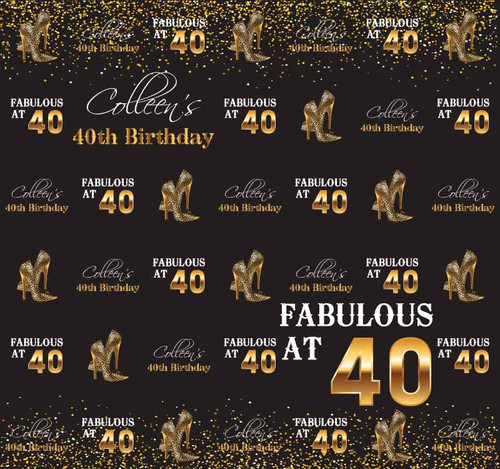 40th Birthday Backdrop 7014