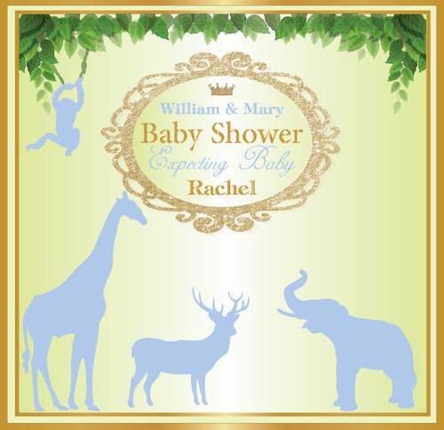 Baby Shower Step and Repeat Backdrop 7018
