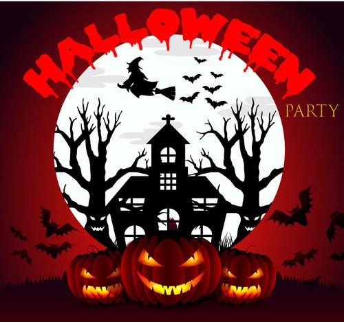 Halloween Backdrop 7019