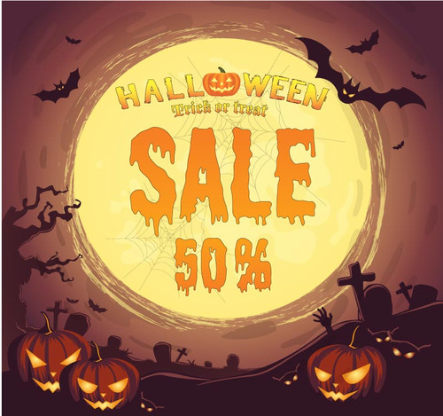Halloween Backdrop 7023