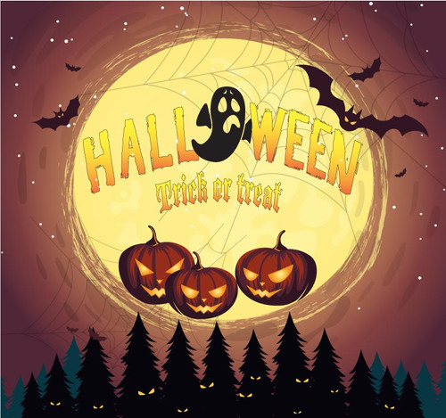 Halloween Backdrop 7024
