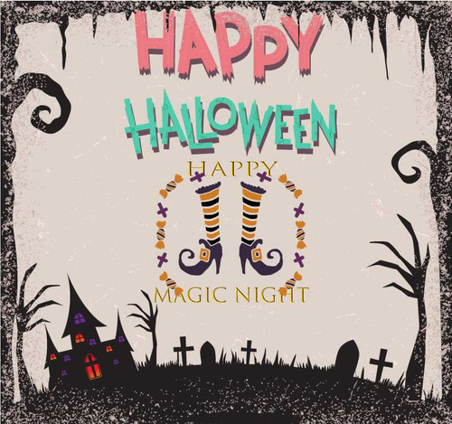 Halloween Backdrop 7025