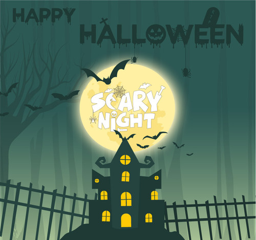 Halloween Backdrop 7027