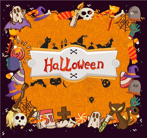 Halloween Backdrop 7029