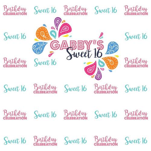 Sweet 16 Backdrop 2957