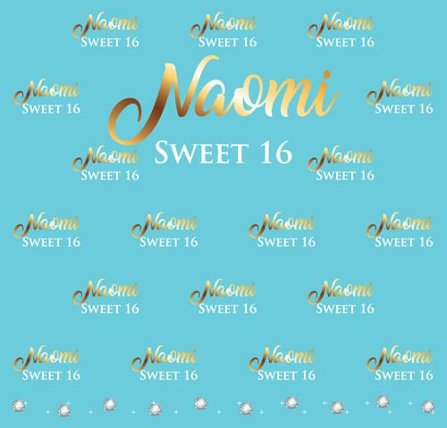 Sweet 16 Backdrop 5037