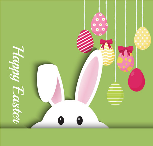 Easter Backdrop 7030 bunny church banner